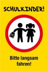 Playground sign - school children! Please drive slowly!