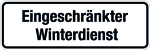 Winterschild - Restricted winter service