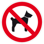 Prohibited sign - No pets allowed
