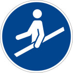 Billing sign - Use a handrail