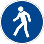 Billing sign - For pedestrians