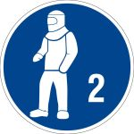Please use protective clothing type 2