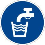 Billing sign - drinking water