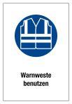 Use signboard - use warning vest