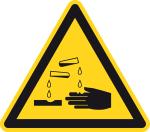 Warning sign - Warning of corrosive substances