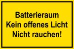 Warning sign - battery compartment