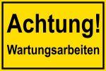 Warning sign - maintenance