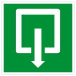 Emergency exit sign exit