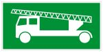Escape route sign - Rescue route exclusively via fire brigade