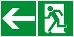 Escape route sign - escape route on the left
