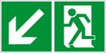 Escape route sign - rescue route left