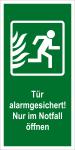 Escape sign - Door alarm-controlled