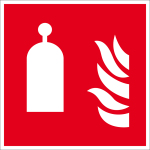 Fire protection mark - release station for room protection