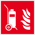 Fire protection mark - Mobile fire extinguisher