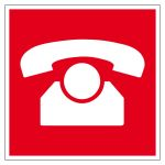 Fire protection sign - Emergency telephone