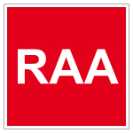 Fire protection sign - RAA