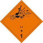 Dangerous goods markings - Explosive substances 1.1