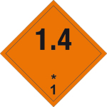 Dangerous goods markings - Explosive substances 1.4