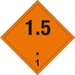 Dangerous goods markings - Explosive substances 1.5