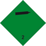 Dangerous goods mark - Non-flammable, non-toxic gases