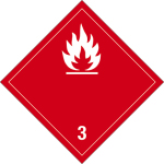 Dangerous goods mark - Flammable liquids