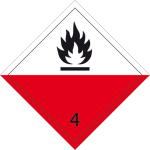 Dangerous goods label - Self-igniting substances