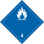 Dangerous goods mark - Flammable, solid substances (water-active)