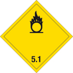 Dangerous goods label - Oxidizing substances