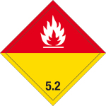 Dangerous goods label - Organic peroxides