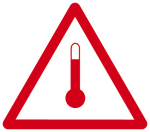 Hazardous goods mark - Heated substances